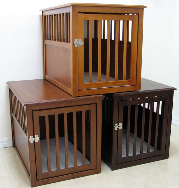 Crown Pet™ Pet Crate: Mahogany, Medium