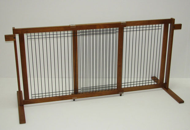 Crown Pet™ Tall Gate Wood/Wire: Chestnut, Large Span