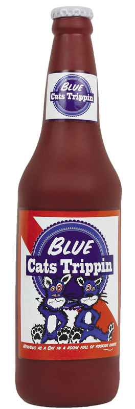 Silly Squeakers Beer Bottles: Blue Cat Trippin