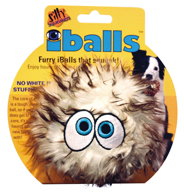 Silly Squeakers IBalls: Brown, Medium