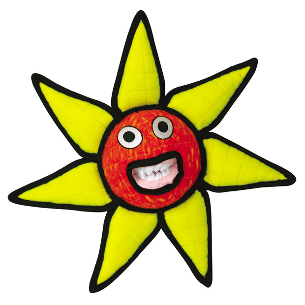 Tuffy Alien Series Ball Flower: Red