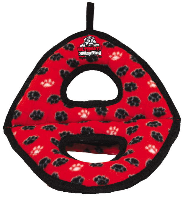 Tuffy Ultimate 3WayRing: Red Paw