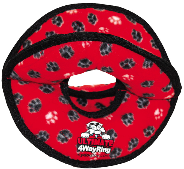 Tuffy Ultimate 4WayRing: Red Paw