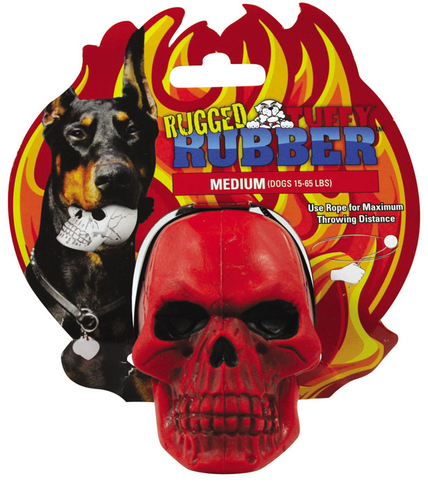 Rugged Rubber Skull: Red, Medium