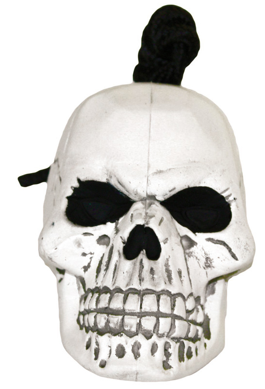 Rugged Rubber Skull: White, Medium