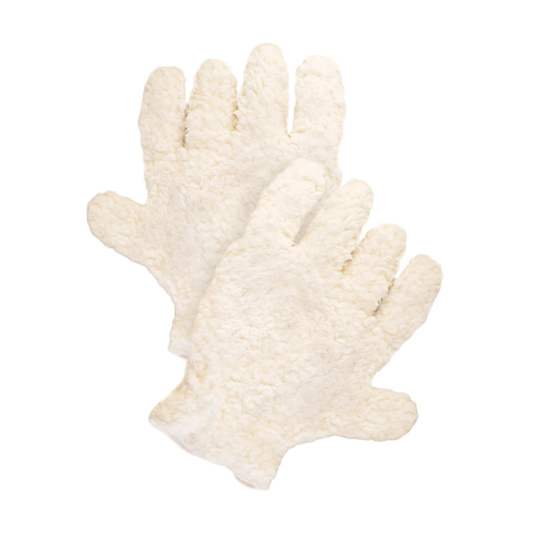 Pura Naturals Pet Fur Drying Gloves, After Bath - Cream