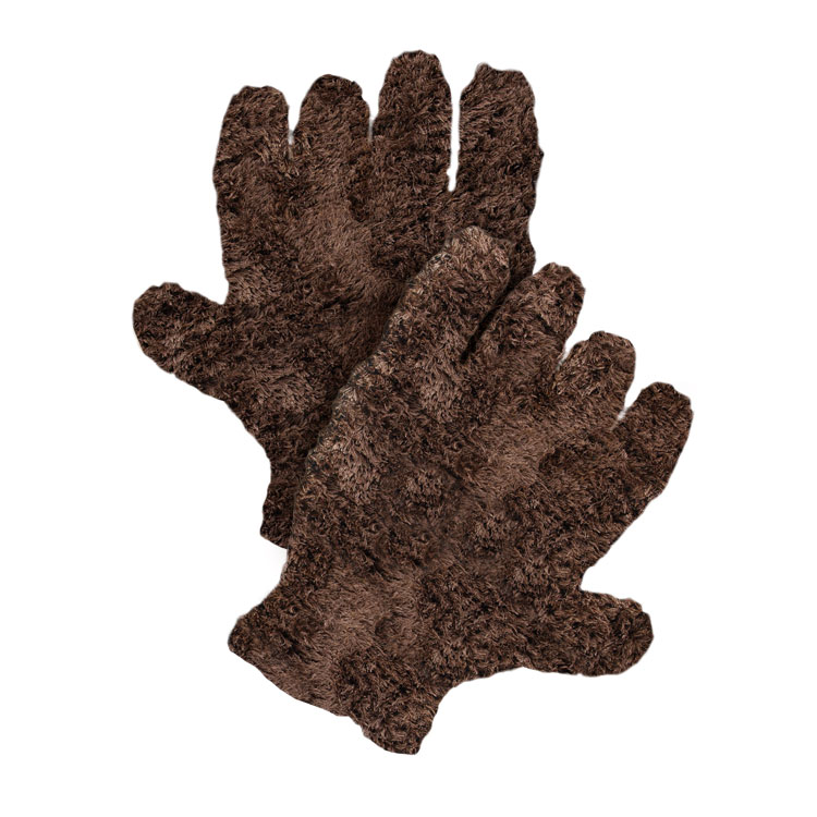 Pura Naturals Pet Fur Drying Gloves, After Walk - Brown