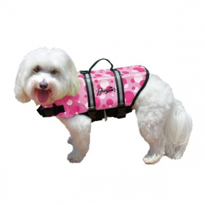 Pawz Pet Products Nylon Dog Life Jacket Extra Extra Small Pink Bubbles