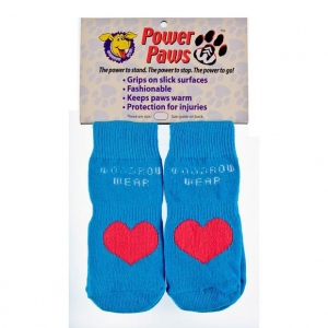 "Woodrow Wear Power Paws Advanced Large Blue / Red Heart 2.38"" - 2.75"" x 2.38"" - 2.75"""
