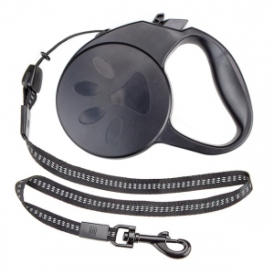 10-foot Black Extra-Small Retractable Dog Leash