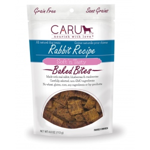 CARU Natural Rabbit Recipe Soft 'N Tasty Bites for Dogs: 4.0 oz (113 G)