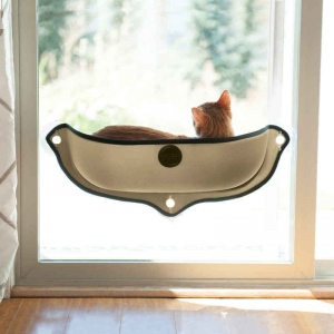 "K&H Pet Products EZ Mount Window Bed Kitty Sill Tan 27"" x 11"" x 10.5"""
