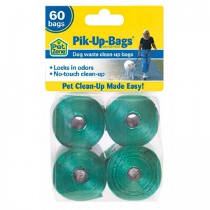 Our Pets Pik-Up-Bags 60 count Green