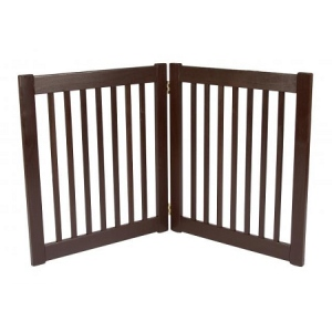 Dynamic Accents Two Panel EZ Pet Gate - Small/Mahogany