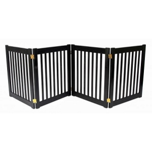 Dynamic Accents Four Panel EZ Pet Gate - Small/Mahogany