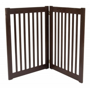 Dynamic Accents Two Panel EZ Pet Gate - Large/Mahogany