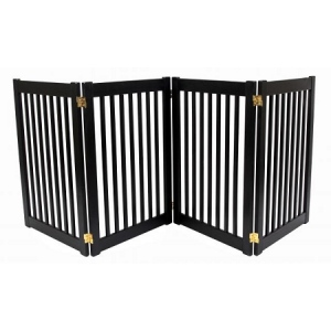 Dynamic Accents Four Panel EZ Pet Gate - Large/Mahogany