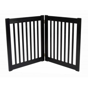 Dynamic Accents Two Panel EZ Pet Gate - Small/Black