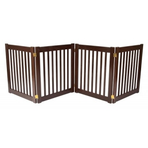 Dynamic Accents Four Panel EZ Pet Gate - Small/Black