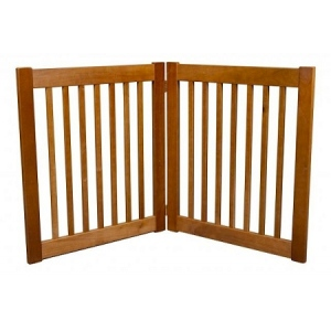 Dynamic Accents Two Panel EZ Pet Gate - Small/Artisan Bronze