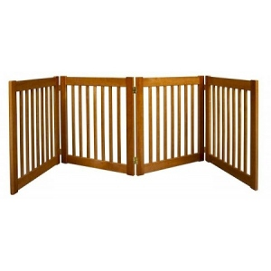 Dynamic Accents Four Panel EZ Pet Gate - Small/Artisan Bronze