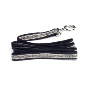 Color Pet™ Casey & Eddy Natural/Black Leash: Extra Large