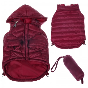 Pet Life Lightweight Adjustable 'Sporty Avalanche' Pet Coat: Small, Burgundy Red
