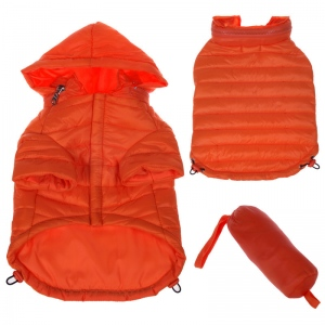 Pet Life Lightweight Adjustable 'Sporty Avalanche' Pet Coat: Small, Orange