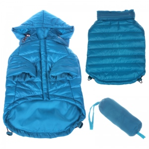 Pet Life Lightweight Adjustable 'Sporty Avalanche' Pet Coat: Small, Blue