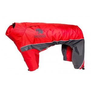 Touchdog Quantum-Ice Full-Bodied Adjustable and 3M Reflective Dog Jacket w/ Blackshark Technology: Medium, Red, Charcoal Grey