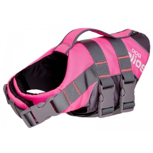 Helios Splash-Explore Outer Performance 3M Reflective and Adjustable Buoyant Dog Harness and Life Jacket: Large, Pink