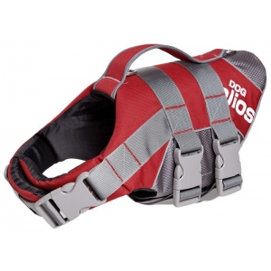 Helios Splash-Explore Outer Performance 3M Reflective and Adjustable Buoyant Dog Harness and Life Jacket: Medium, Red
