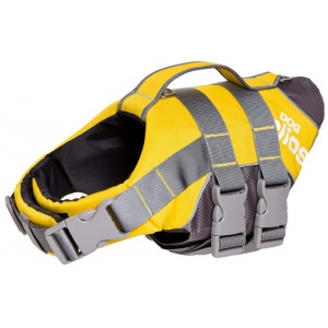Helios Splash-Explore Outer Performance 3M Reflective and Adjustable Buoyant Dog Harness and Life Jacket: Small, Yellow