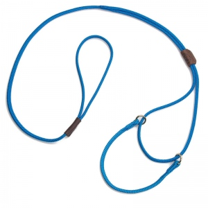 "Mendota Martingale Show Lead: Blue, Small 8"", 1/8"" X 40"""