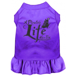 A Pirate's Life Embroidered Dog Dress Purple XXXL (20)
