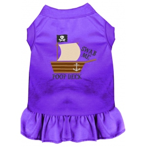 Poop Deck Embroidered Dog Dress Purple XXL (18)