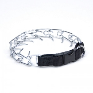 "Coastal Pet Products Titan Easy-On Dog Prong Training Collar with Buckle Medium Silver 17.5"" x 2.50"" x 2"""