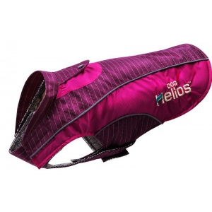 Dog Helios 'Reflecta-Bolt' Sporty Performance Tri-Velcro Waterproof Pet Dog Coat Jacket W/ Blackshark Technology: Small, Hot Pink / Purple