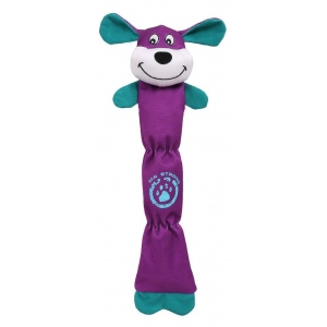 Pet Life Extra Long Dura-Chew Reinforce Stitched Durable Water Resistant Plush Chew Tugging Dog Toy: One Size, Purple