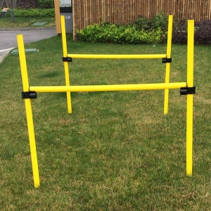 Pet Life Jumping Hurdle Collapsible Agility Dog Trainer Kit: One Size, Yellow