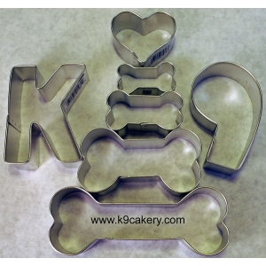 K9 Cakery 7 Piece K9 Dog Cookie Cutters