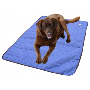 HyperKewl Evaporative Cooling Dog Pad: Blue, L