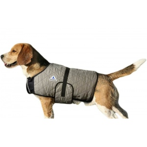 HyperKewl Evaporative Cooling Dog Coat: Silver, S