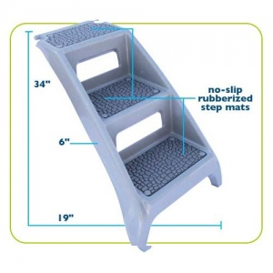 "Booster Bath Step Grey 19"" x 6"" x 34"""