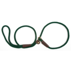 "Mendota British Style Small Slip Lead Rope: Leash and Collar in One, Green, 3/8"" x 4'"