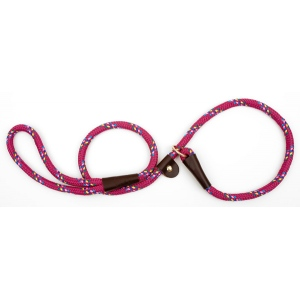 "Mendota British Style Slip Lead Rope: Leash and Collar in One, Rasp Conf, 1/2"" X 4'"