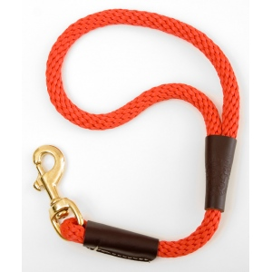 "Mendota Pet Traffic Lead: Red, 1/2"" x 16"""