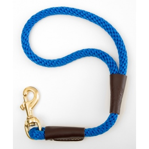 "Mendota Pet Traffic Lead: Blue, 1/2"" x 16"""