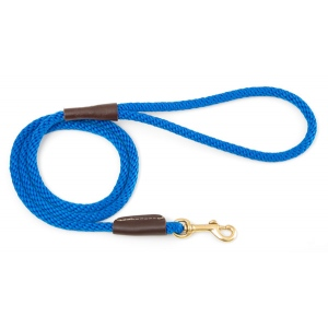 "Mendota Pet Small Snap Leash: Blue, 3/8"" x 4'"