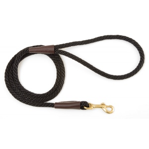 "Mendota Small Snap Leash: Black, 3/8"" x 4'"